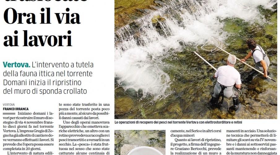 Gli interventi di Fipsas Bergamo e delle sue guardie a tutela delle acque bergamasche