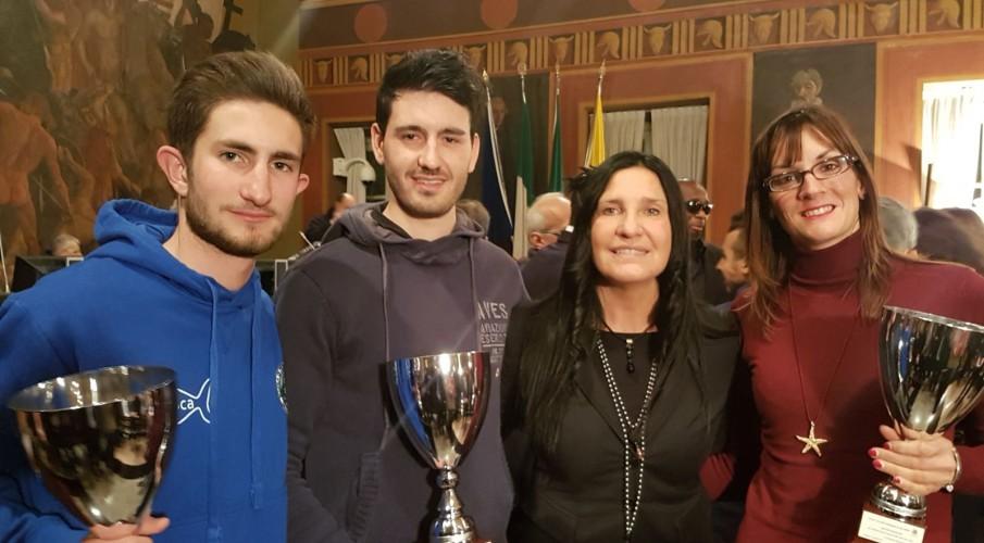 Francesca Fuselli, Nicola Prando e Matteo Sigralli premiati con il