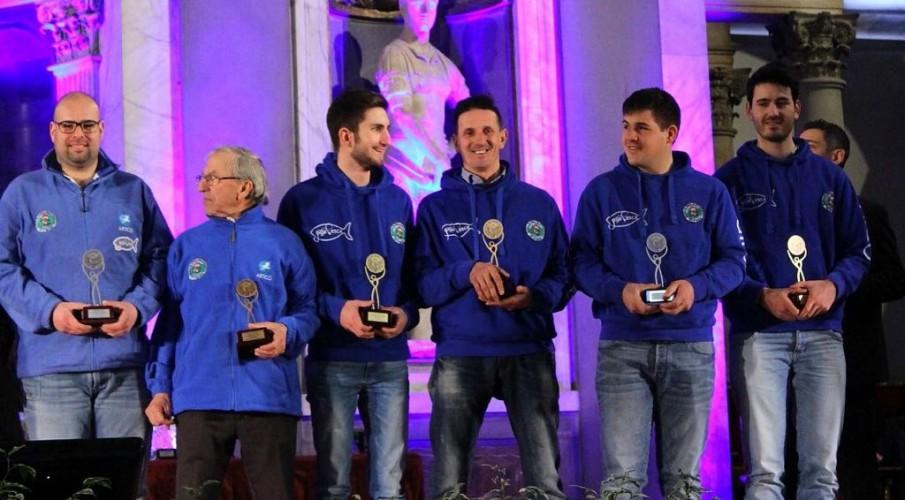 A Firenze le premiazioni degli Azzurri Fipsas con il presidente Arzuffi, il cosigliere Nazionale Ziboni e la Scuola Pesca Valle Imagna