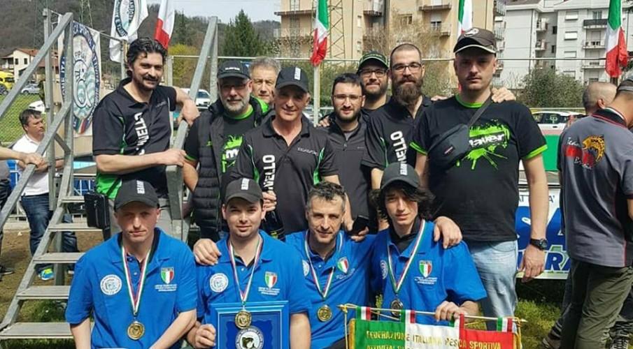 Molinello di Albino campione d'Italia a squadre nella pesca alla trota con esche artificiali