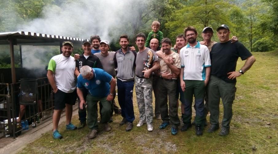 Le gare a squadre del torrente. a Strozza il campionato regionale, in testa la Molinello, vincitore di giornata la Valle San Martino